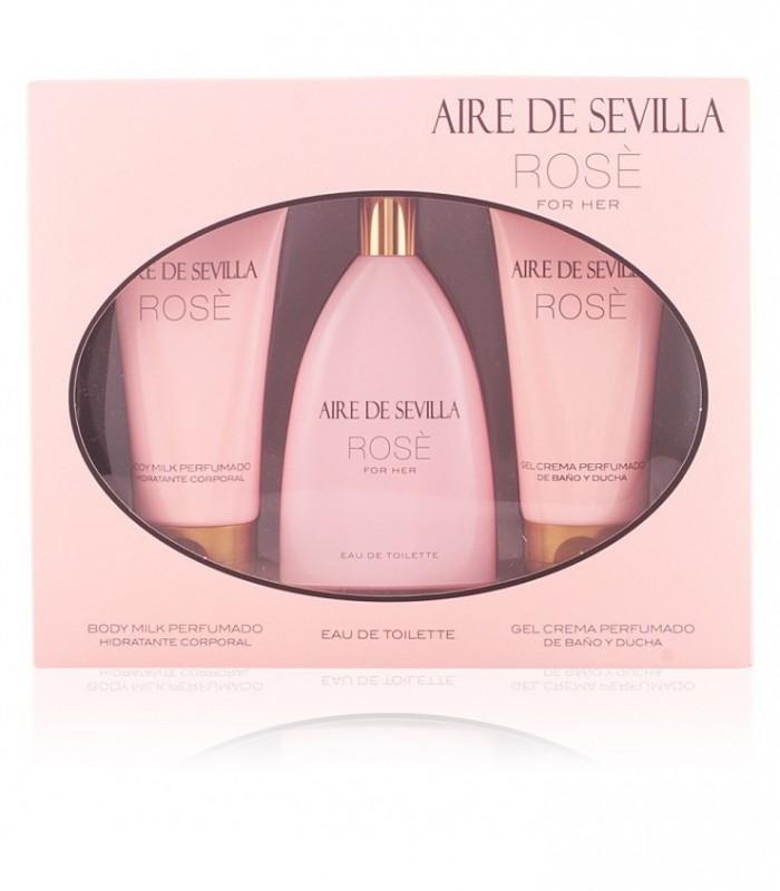 Aire De Sevilla Rose Eau De Toilette 150Ml Set 3 Pcs