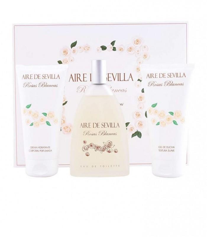 Aire De Sevilla Rosas Blancas Eau De Toilette 150Ml Set 3 Pcs