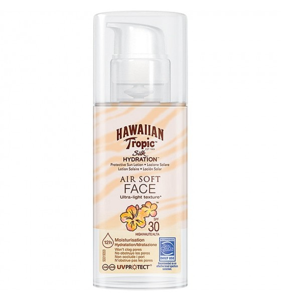 Hawaiian Tropic Silk Hydration Air Soft Face Sun Lotion Spf30