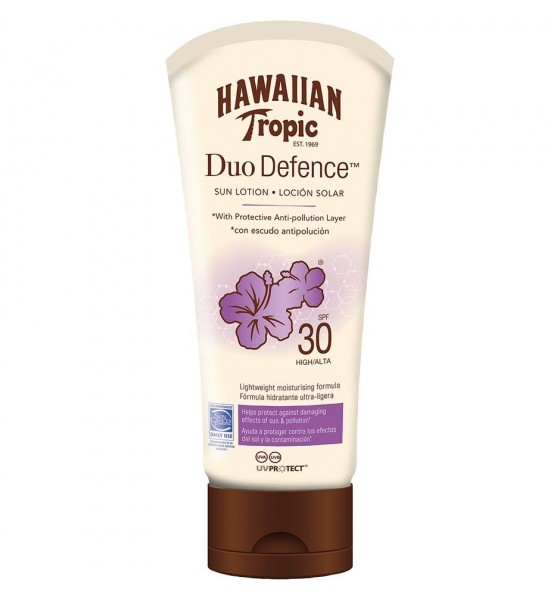 Hawaiian Tropic Duo Defence Sun Lotion Spf30 180Ml